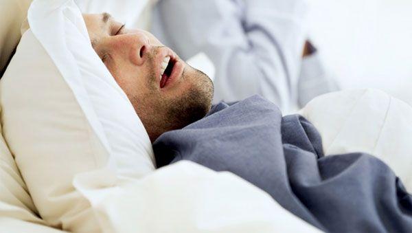 Snoring & Sleep Apnea - Man Snoring